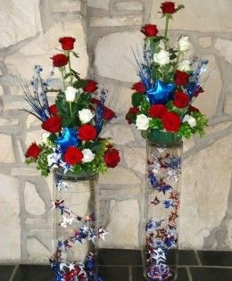 4th Of July Flower Arrangements Bing Images July Flowers 4th Of July Decorations Fourth Of