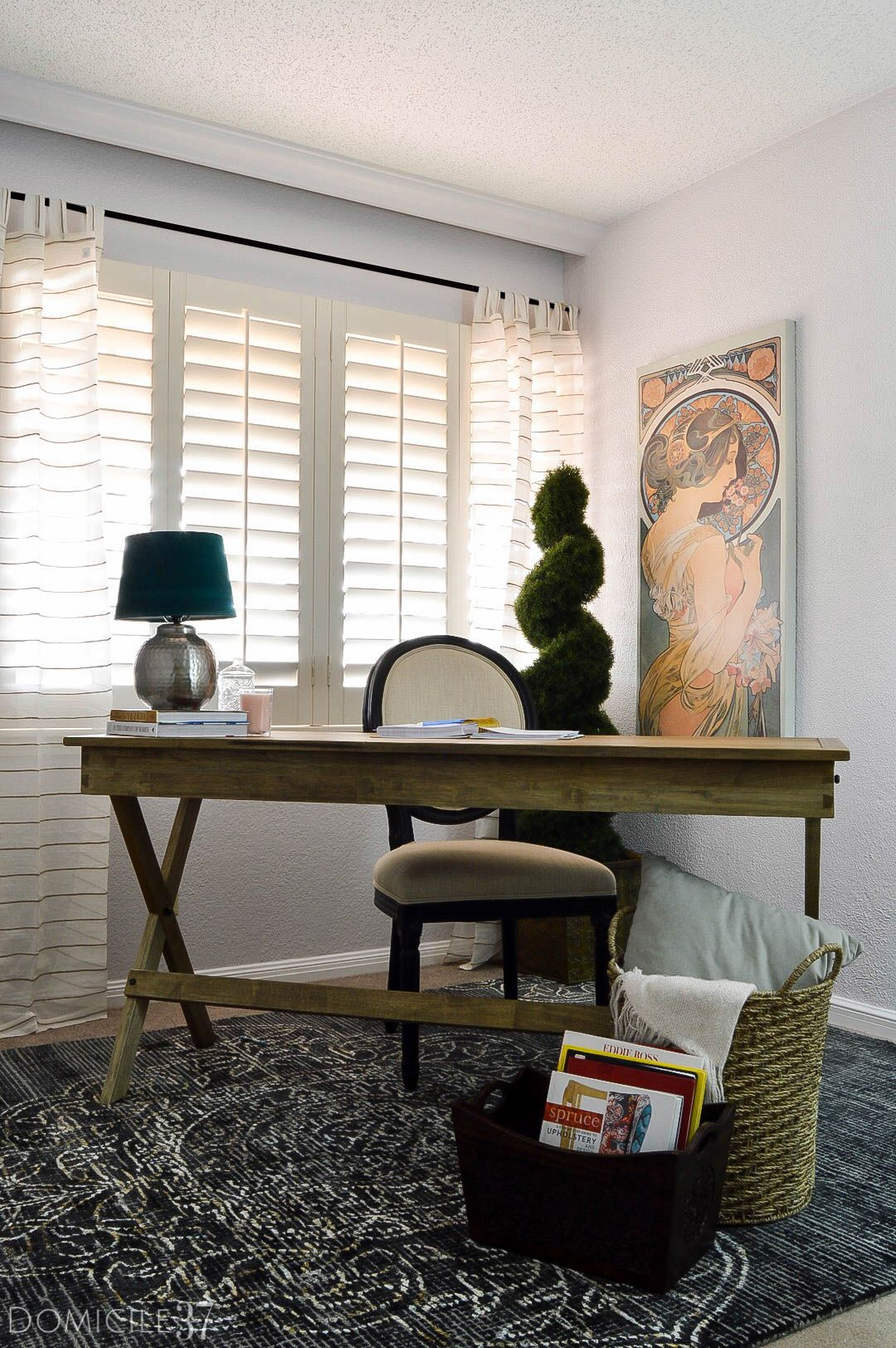 Vintage Eclectic Office Makeover With World Market Home Office