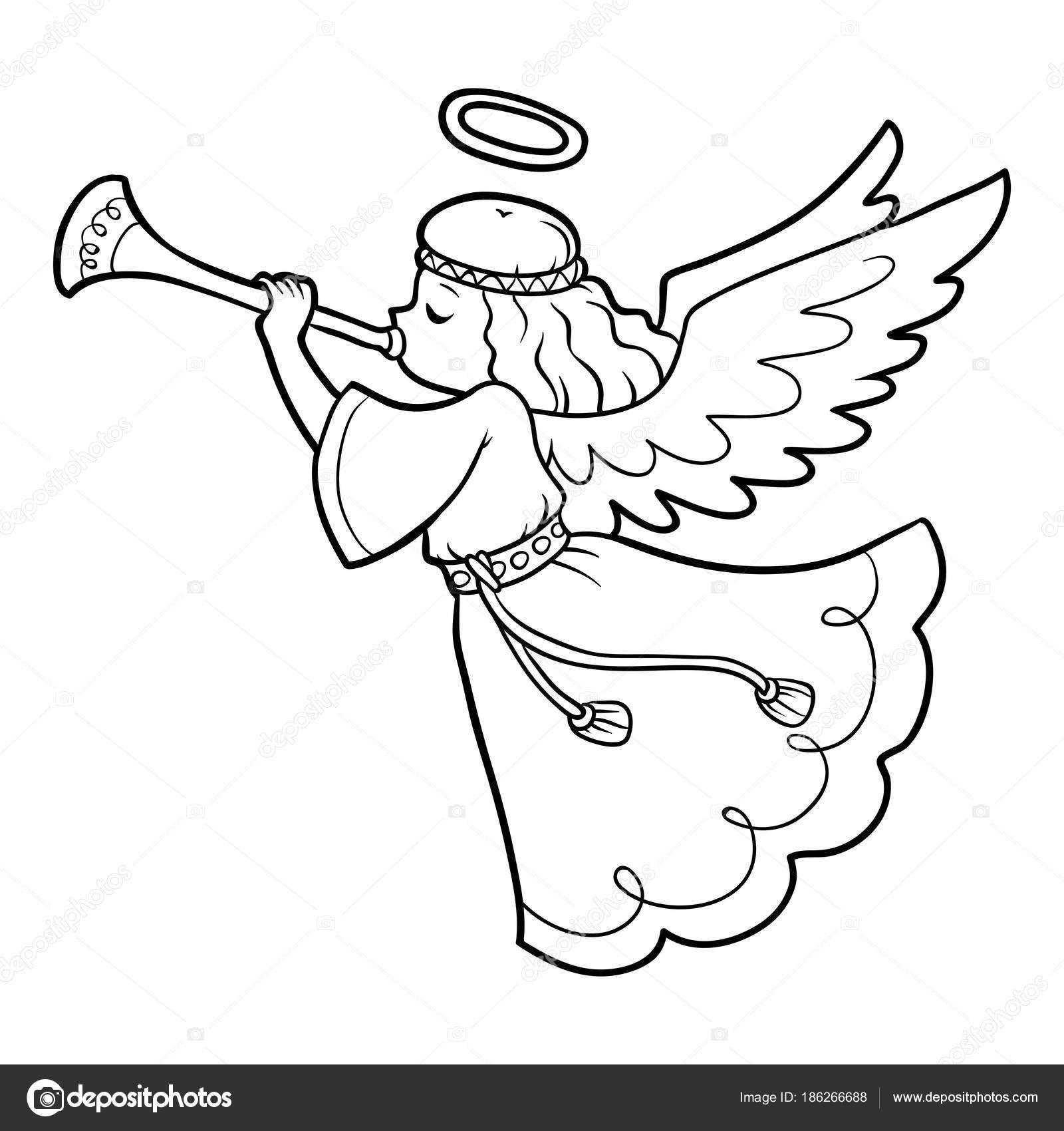 Скачати Книжкарозмальовка для дітей, ангел — стокова