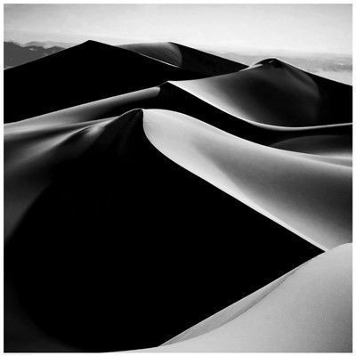 Paper 24 1 2 x 24 1 2 image 24 x 24 magnificent black and white photograph of sand dunes with stunning shadows a square format print on heavy we