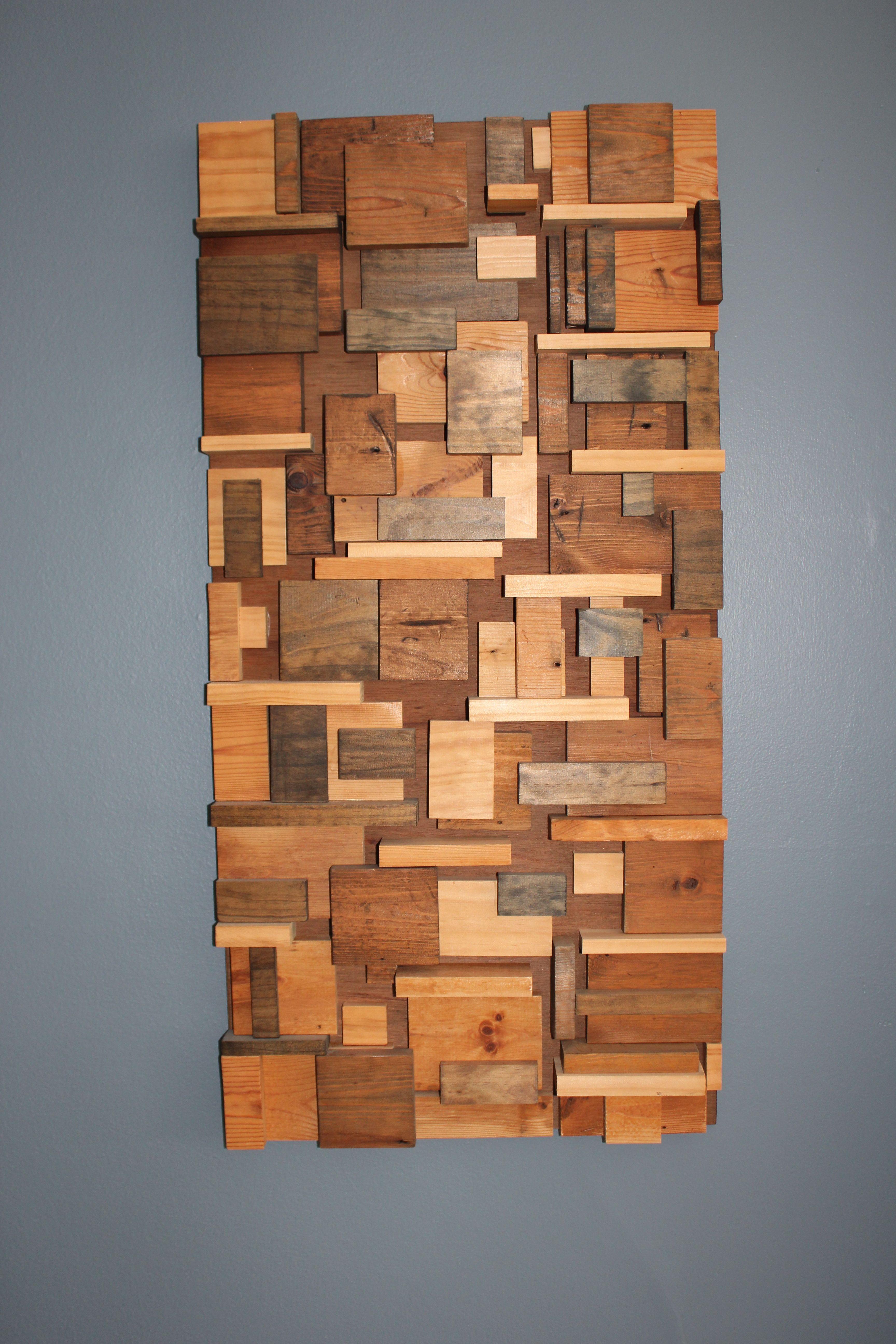 Giving Old Trim New Life A Little Kooky Wood Wall Art Decor