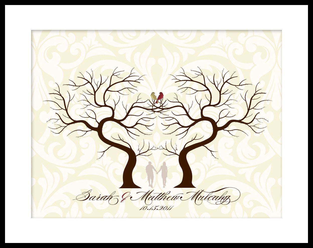 Wedding Signature fingerprint Guest Book Tree DIY PRINTABLE FILE