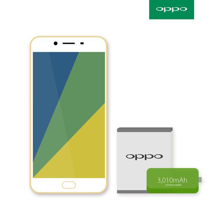 #OPPO #mobile #gold #battery #phone #design #layout #clean #r9s #product #australia #emchengillustration