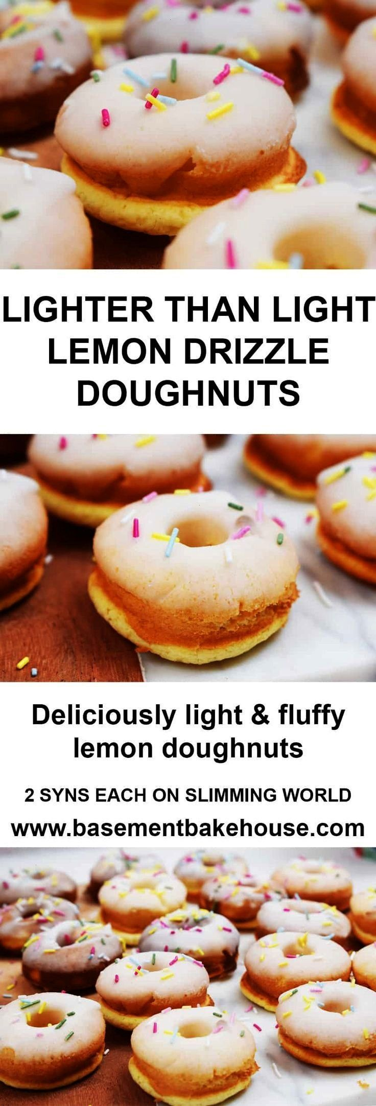 Than Light Lemon Drizzle Doughnuts - Low Syn on Slimming World - Healthy... - -  Lighter Than Light