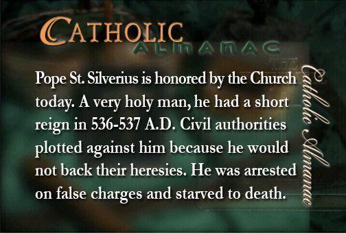 #PopeSaintSilverius