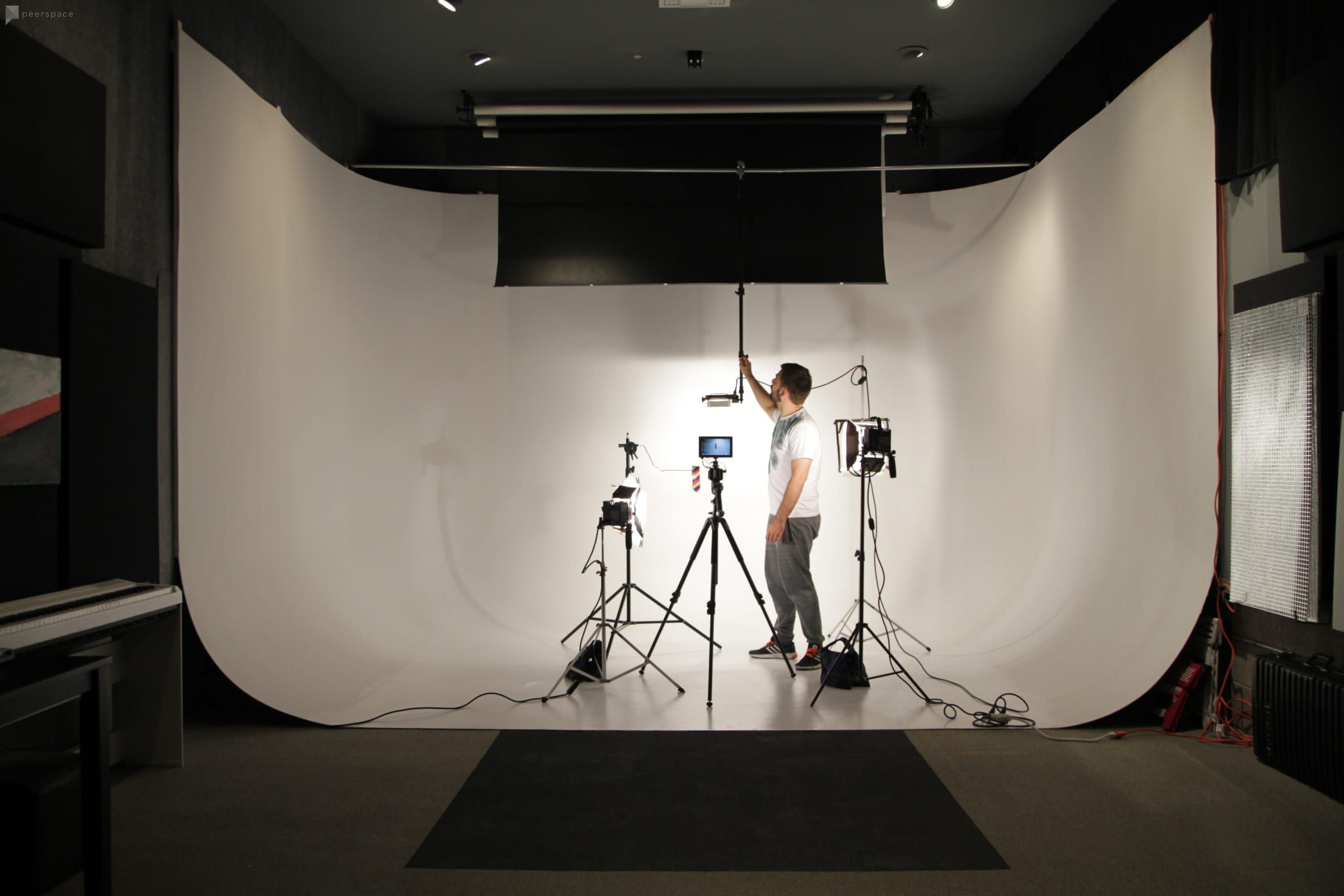 Studio With Cyclorama And Equipment For Photo Video