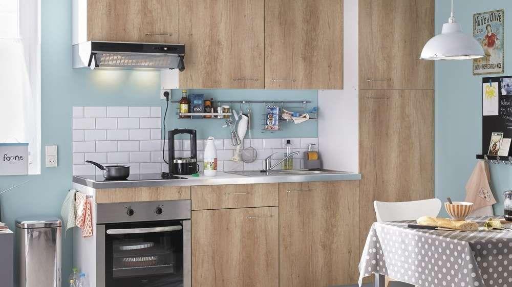 petite cuisine bois blond leroy merlin cuisine Pinterest