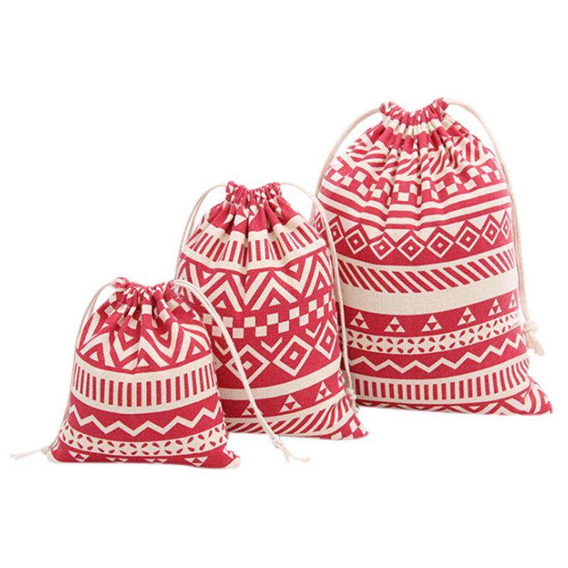 Best 3pcs Fashion Folding Bundle Mouth Gift Bag Stripe Red 17 Affiliate Cotton Gift Bag Linen Storage Bag Cotton Gifts