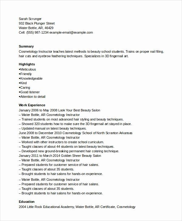 25 entry level esthetician resume in 2020  with images
