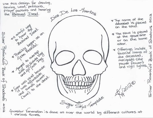 Magick Notes — Dios De Los Muertos Sugar Skull Template | Pinterest ...