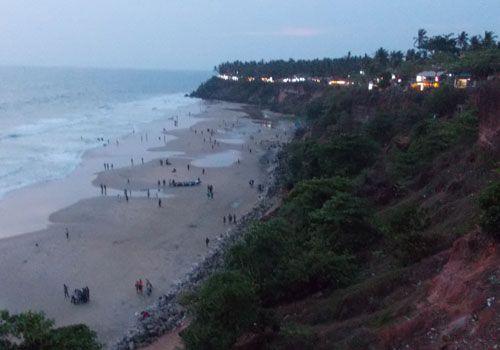 The amazing cliff at Varkala Beach, Kerala