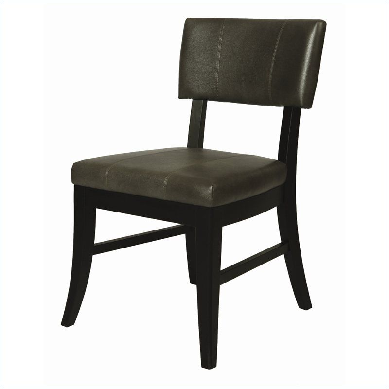 Pastel Furniture Eritrea Side Chair In Bonded Dark Gray Leather Qler11054843 Lowest Price Online On All Past Pastel Furniture Dining Chairs Chair