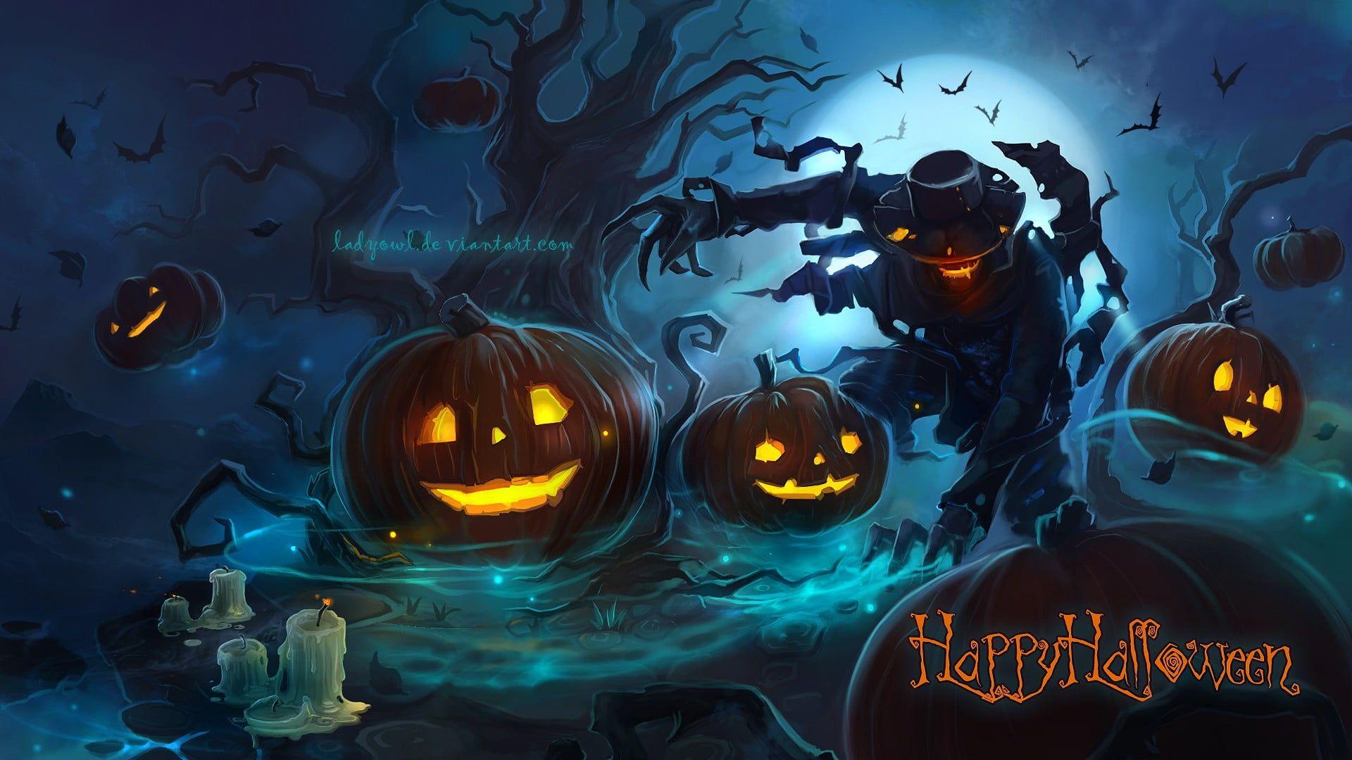 Mobile Legends Happy Holloween digital poster Halloween