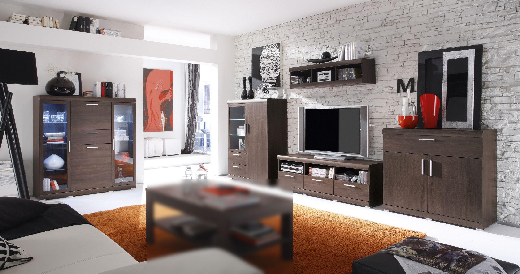 Wohnwand Und Highboard Eiche Sonoma Dunkel Woody 147 00187 Holz Modern Jetzt Bestellen Unter