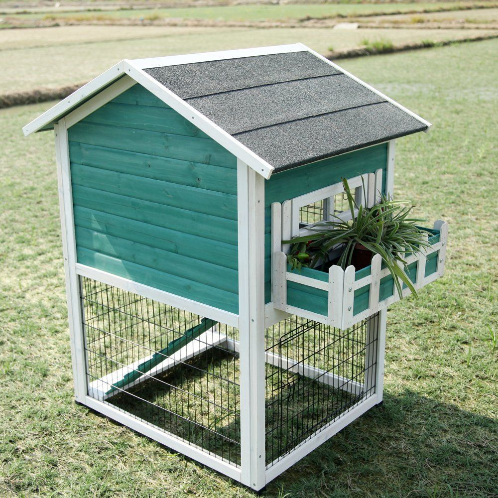 Petsfit 38 x 30 2 x 45 9 inches bunny cages for Outdoor bunny hutch