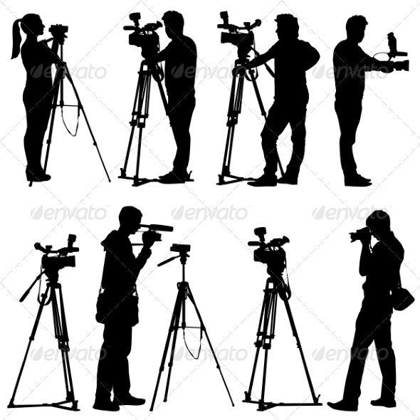 Camera Silhouettes Camera Silhouette Silhouette White Background