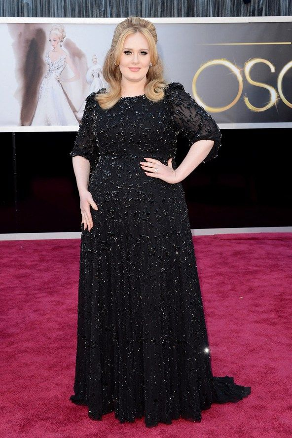 6e2a0d454b5 85th Academy Awards  Adele wore a black sparkly Jenny Packham dress on the  Oscars red carpet.