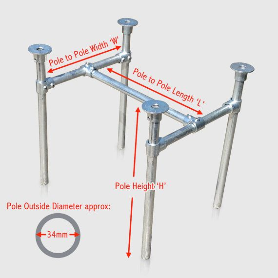 Table Leg Base Cut To Size In Metal Scaffold Pipe