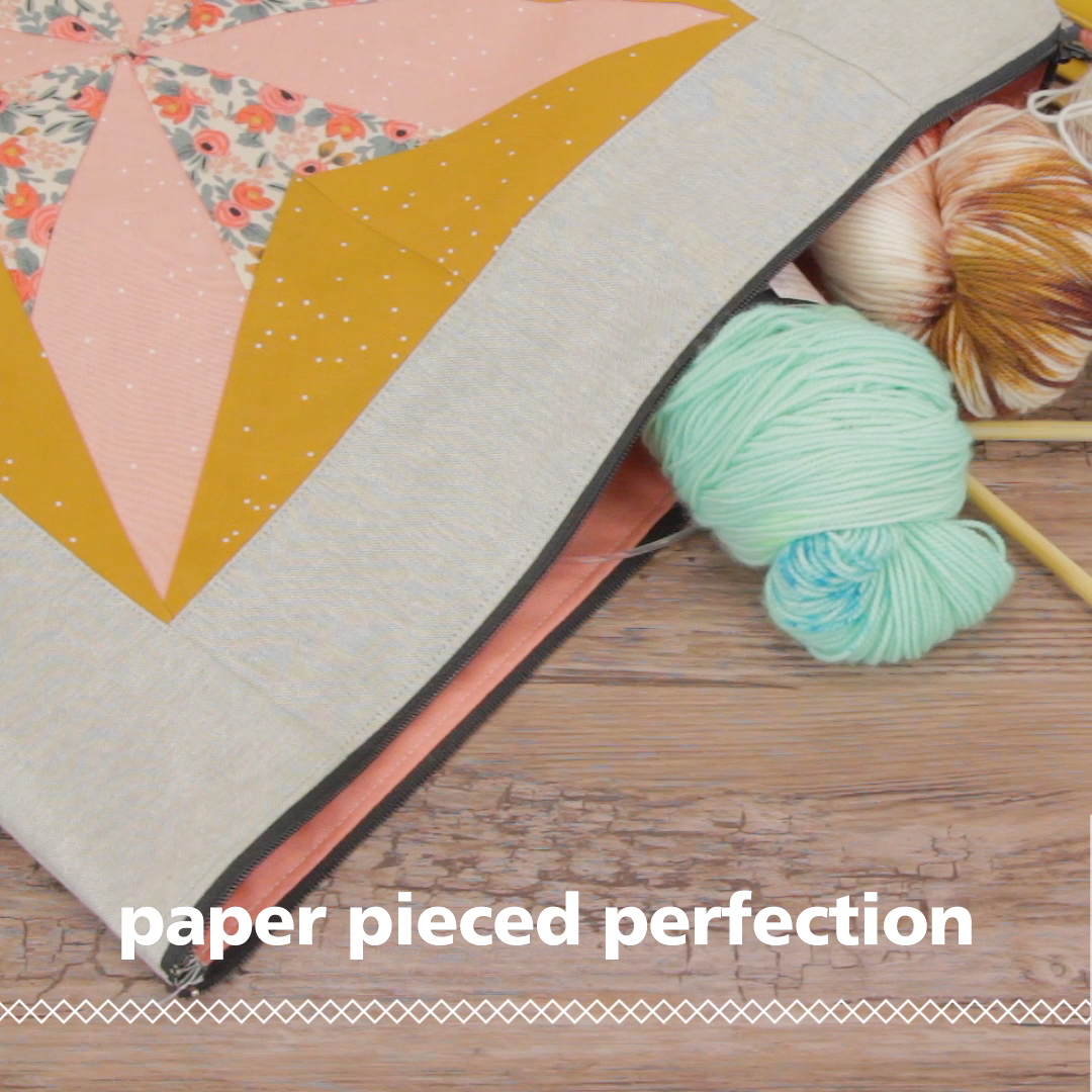 The technique of paper piecing (sometimes called foundation paper piecing) uses a drawn or printed pattern as a base to stitch on directly, and can help you achieve complicated patchwork with perfect piecing. In this post we'll share tips for getting started with this technique and a list of free patterns and tutorials to help build your paper piecing skills. Click through to find Paper Piecing for Beginners at weallsew.com.