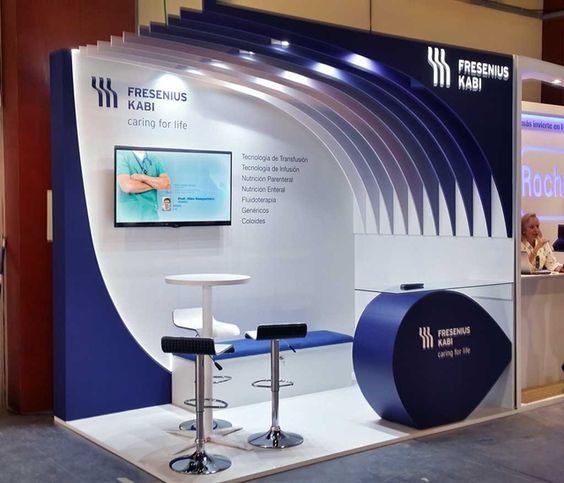 Dise o de stand 3x2 para fresenius stands creativos for Disenos de stand para exposiciones