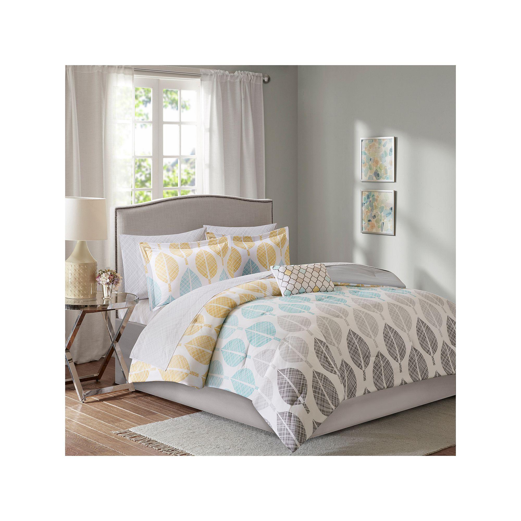 Madison Park Essentials Pelham Bay Comforter Set Yellow With