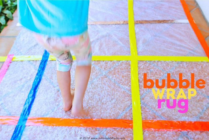 Be honest, after you open up a package covered in bubble wrap can you resistjust a few pops? At a recent playgroup I hosted I laid out this simple craft idea: a Bubble Wrap Rug and the kids LOVED it! It's a great sensory experience, from the sounds of the popping to the way the …