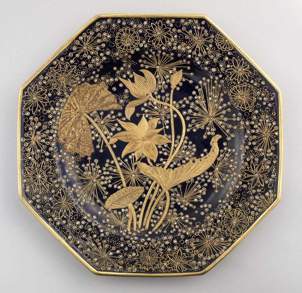 Plate Ca 1890 Decorated By Francis Lycett Manufactured By New York Faience Manufacturing Company With Images Pottery Art Contemporary Pottery Pottery