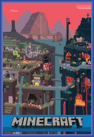 Minecraft Poster Et Cadre Plastique Monde Ouvert 91 X 61cm 1art1 Http Www Amazon Fr Dp B00bmf8 Images Minecraft Fond Ecran Minecraft Dessins Minecraft