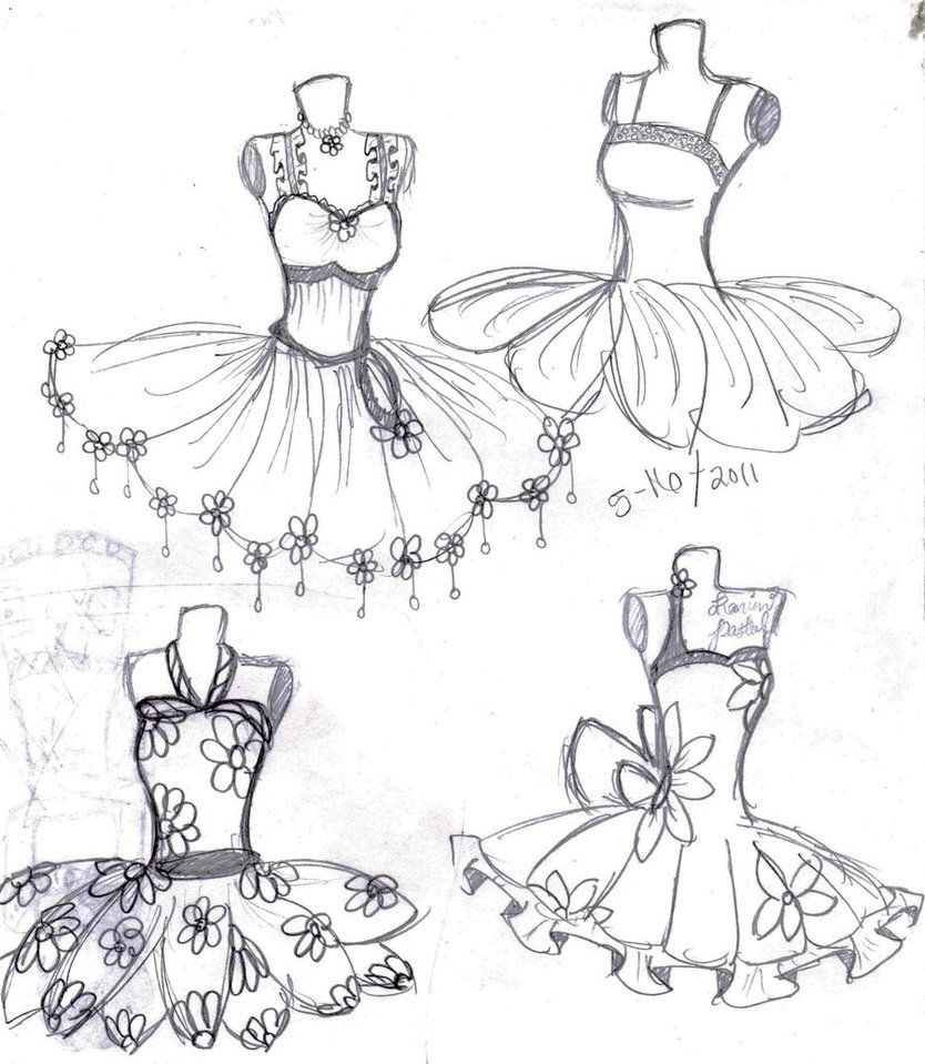 how to draw a ballet dress