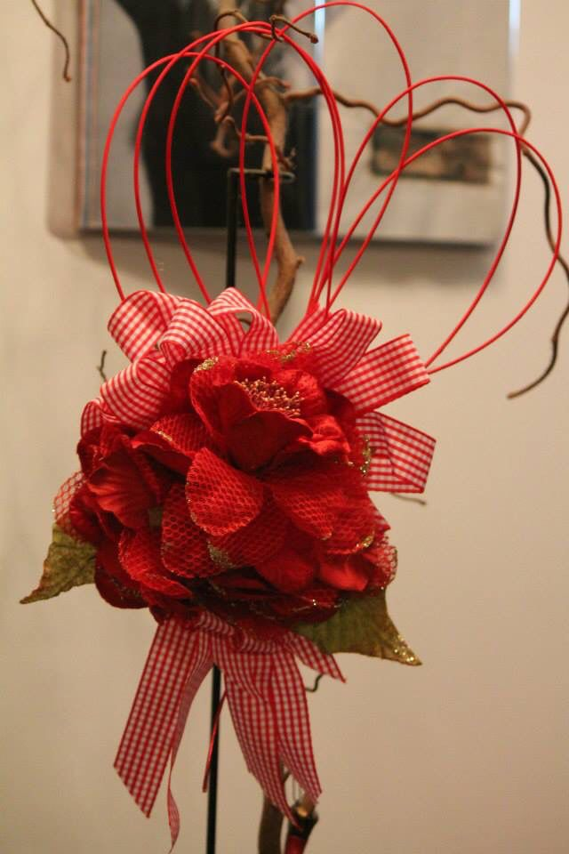 Stella Di Natale In Stoffa.Stella Di Natale Rossa Stoffa Creazioni Di Mina Grapevine Wreath