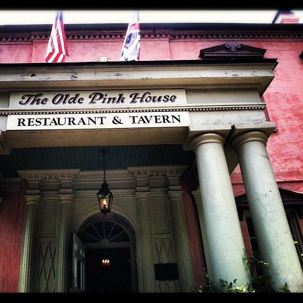 The Olde Pink House  (Hint: You can eat in the Tavern downstairs without a reservation, cozy seating by the fireplace with delightful piano playing the standards in the background…)