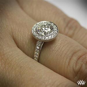'Halo Bezel' Diamond Engagement Ring