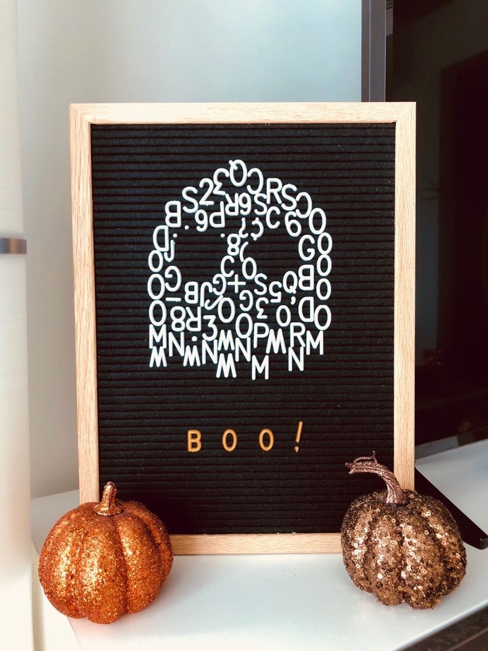 Boo Ghost Halloween Letter Board (With images) Halloween