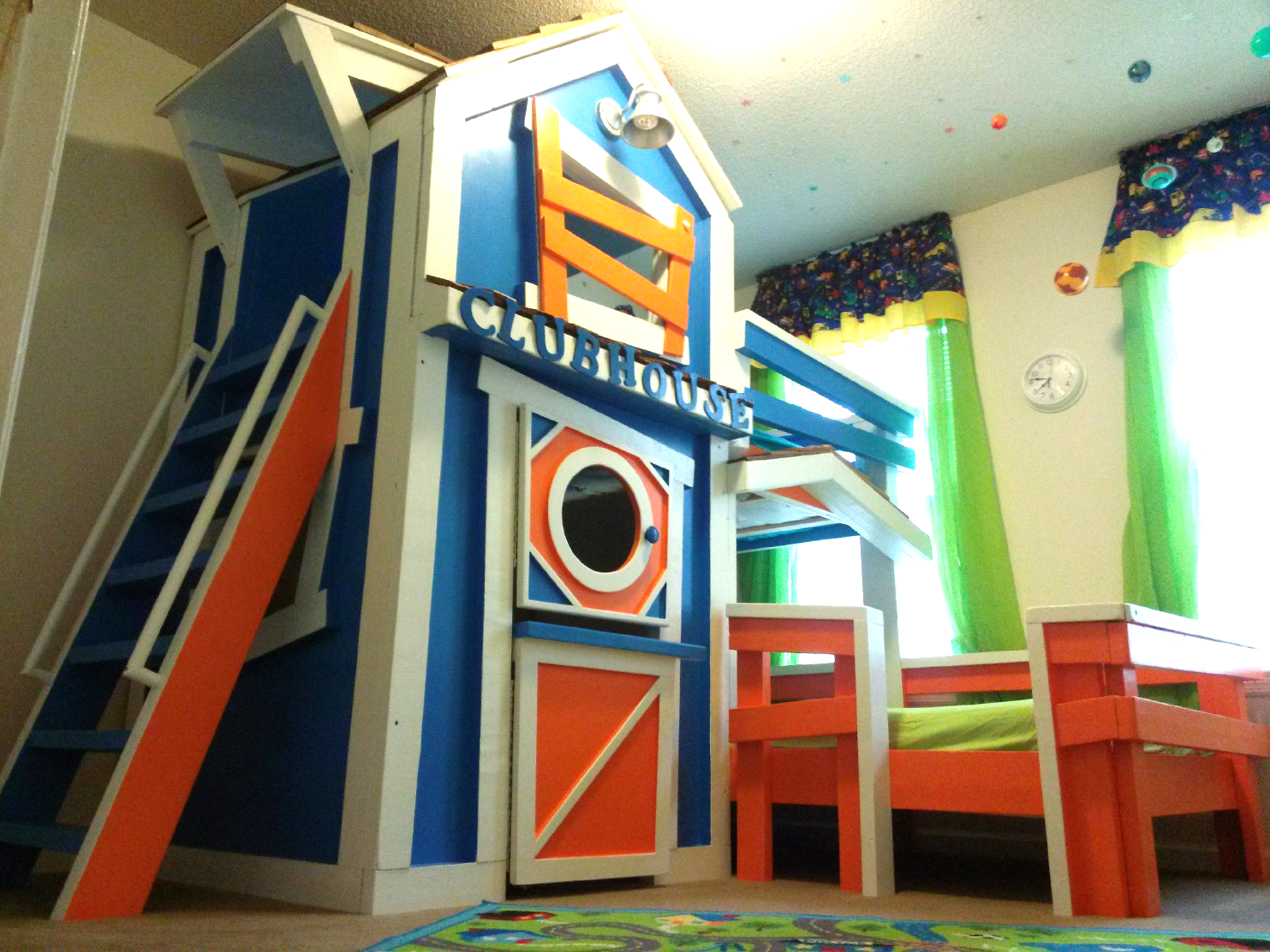 Treehouse loft bed with slide  Amazing bunk bed by Imagine THAT Playhouses u More  Bunk Beds