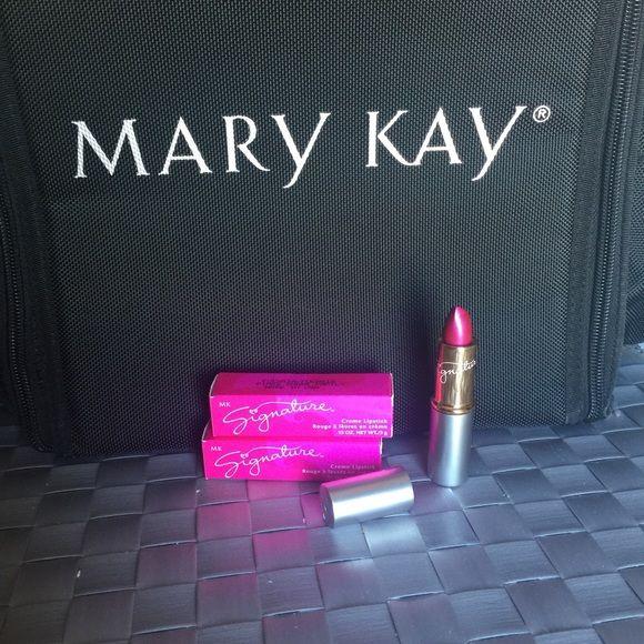 MK Lipstick in Fuchsia Mary Kay Signature Creme Lipstick in Fuchsia. Never been used. Mary Kay Makeup Lipstick