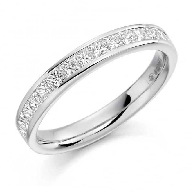 The Raphael Collection Platinum 0.75ct princess cut diamond channel set eternity ring. - The Raphael Collection from Mr Harold and Son Jewellery UK