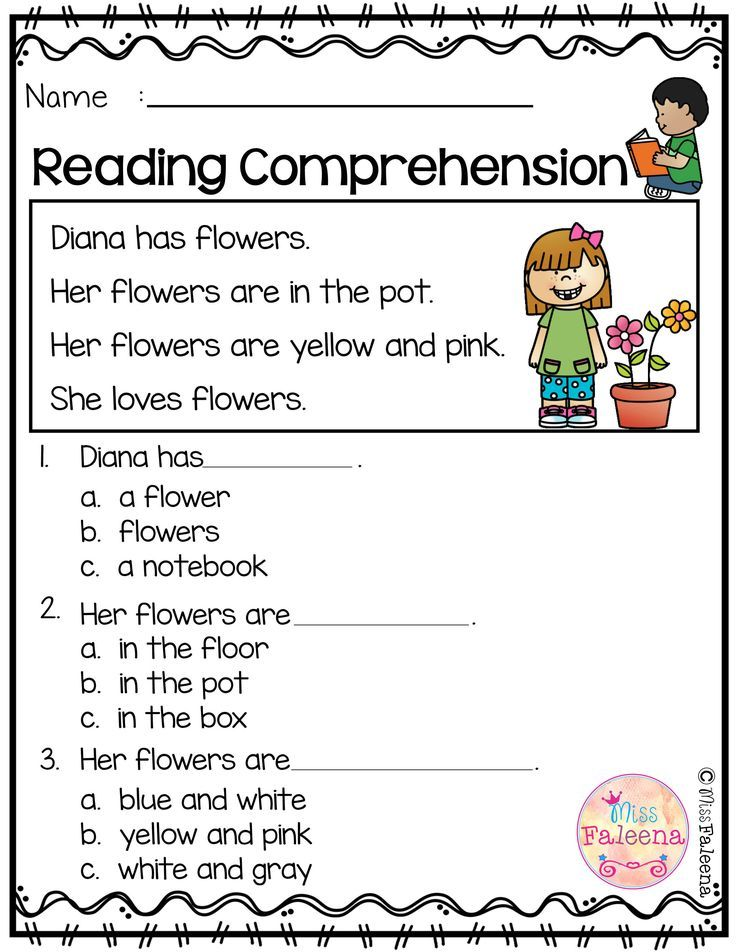 Free Reading Comprehension Reading comprehension