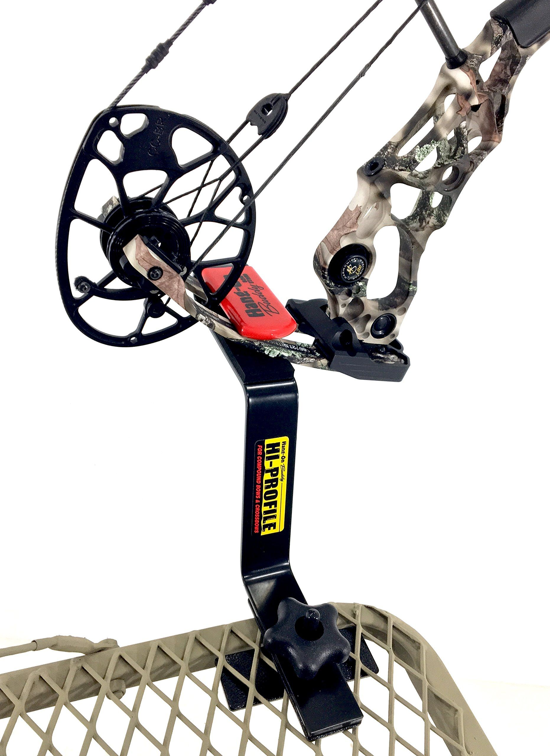 Bow Hanger Hangon Buddy Compound Bow Holder For Tree Stand Best Archery Bow H Hi Profile Learn More By Visiti Compound Bow Holder Compound Bow Bow Holder
