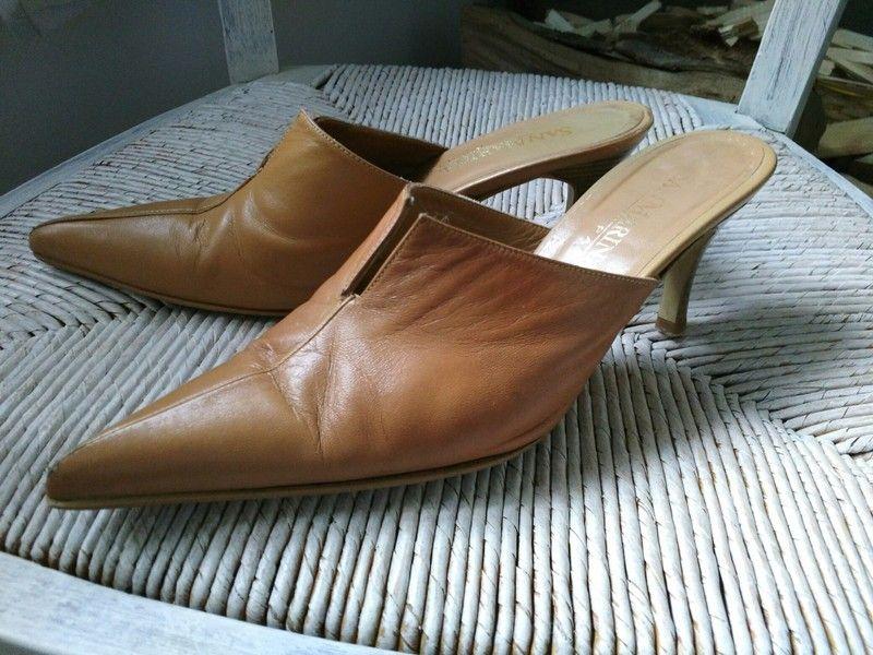 f6e91b236e Mules en cuir camel *San Marina* p37 - tbe   shoes - chaussures ...