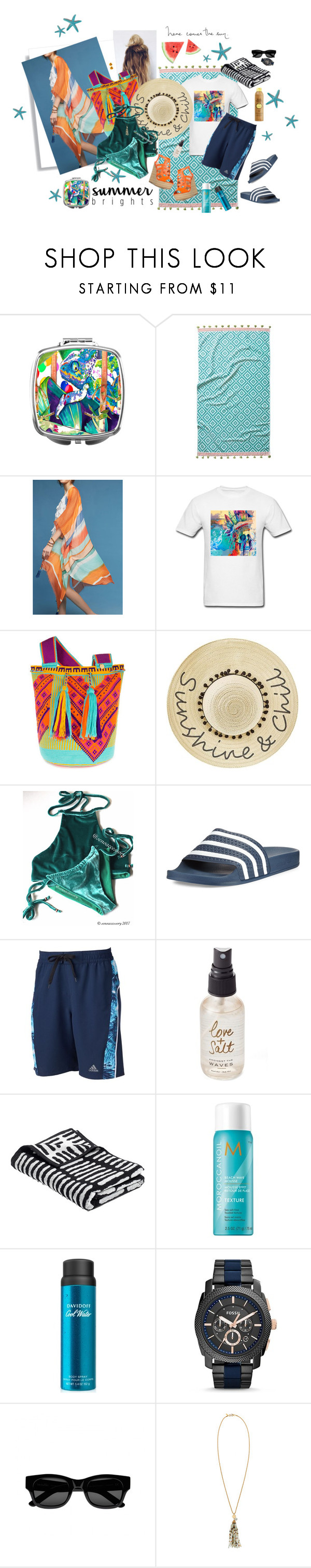 """Ready For Summer"" by cheesyxshirleyxo ❤ liked on Polyvore featuring John Robshaw, Subtle Luxury, Castellano Ethnic Origins, Betsey Johnson, adidas, Olivine, Moroccanoil, Davidoff, FOSSIL and Sun Buddies"