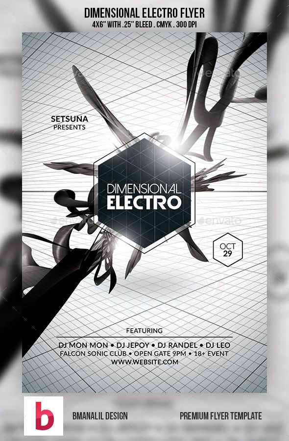 Dimensional Electro Flyer | Pinterest | Electro music, Font logo and ...