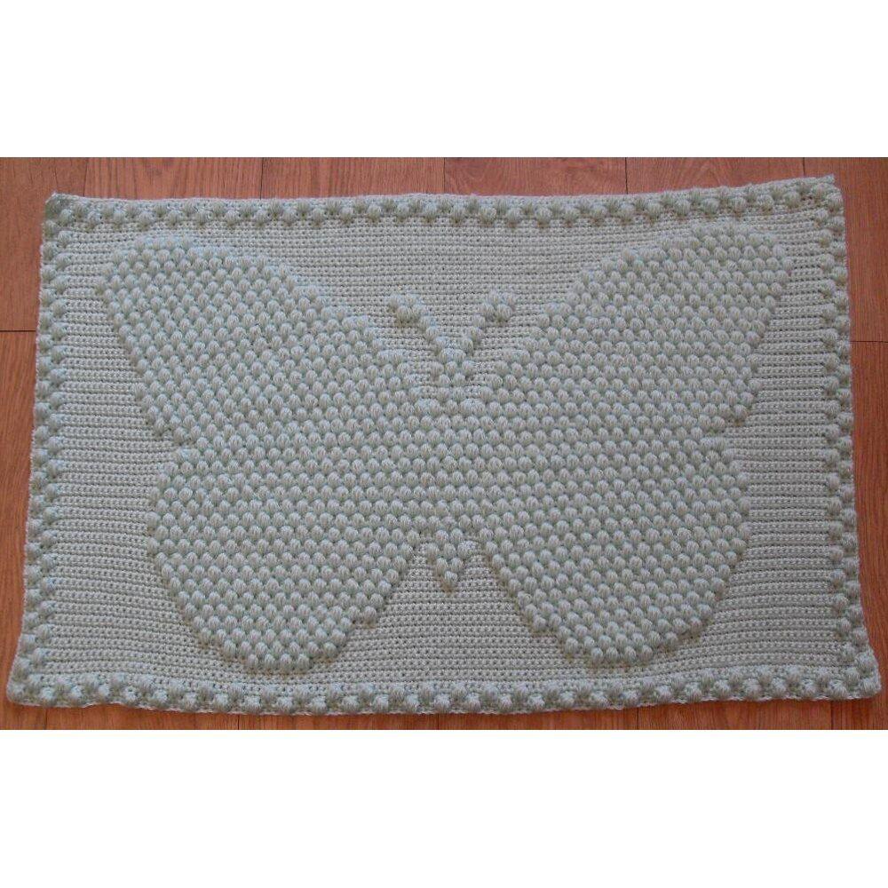 Butterfly - Small Baby Blanket Crochet pattern by Peach ...