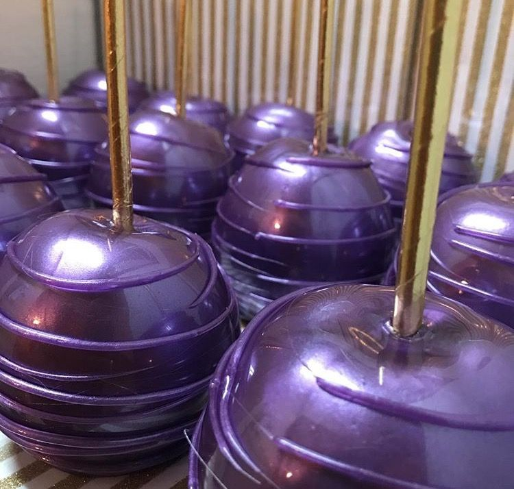 Purple Candy Apple Gourmet Candy Apples Chocolate