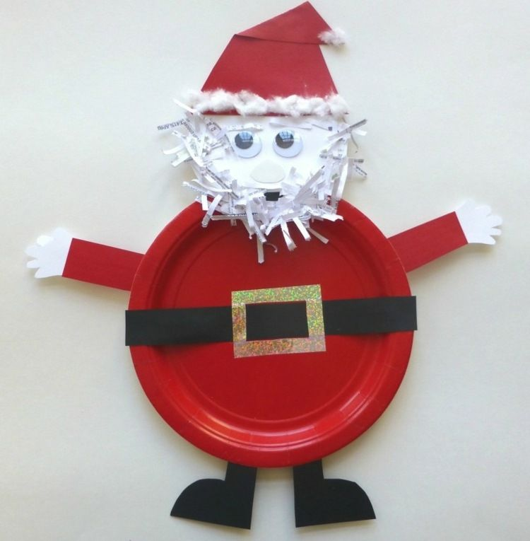 Lustigen nikolaus basteln mit kindern in roter farbe for Nikolaus dekoration basteln