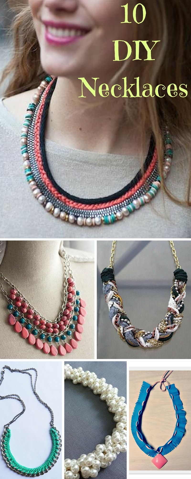 10 DIY Necklaces Tutorial - DIY Gift Ideas | DIY and Crafts