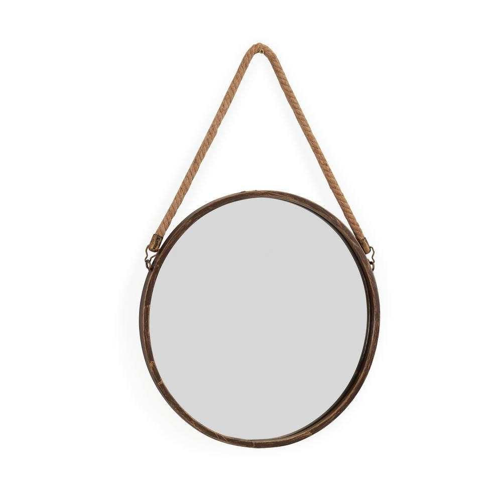 Danya B 15 In Gold Patina Round Mirror With Hanging Rope In 2019 Products Mirror Rope Mirror Round Mirror With Rope