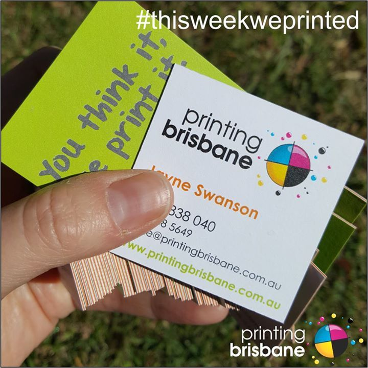 ThisWeekWePrinted Our super thick triple layer business cards - and ...