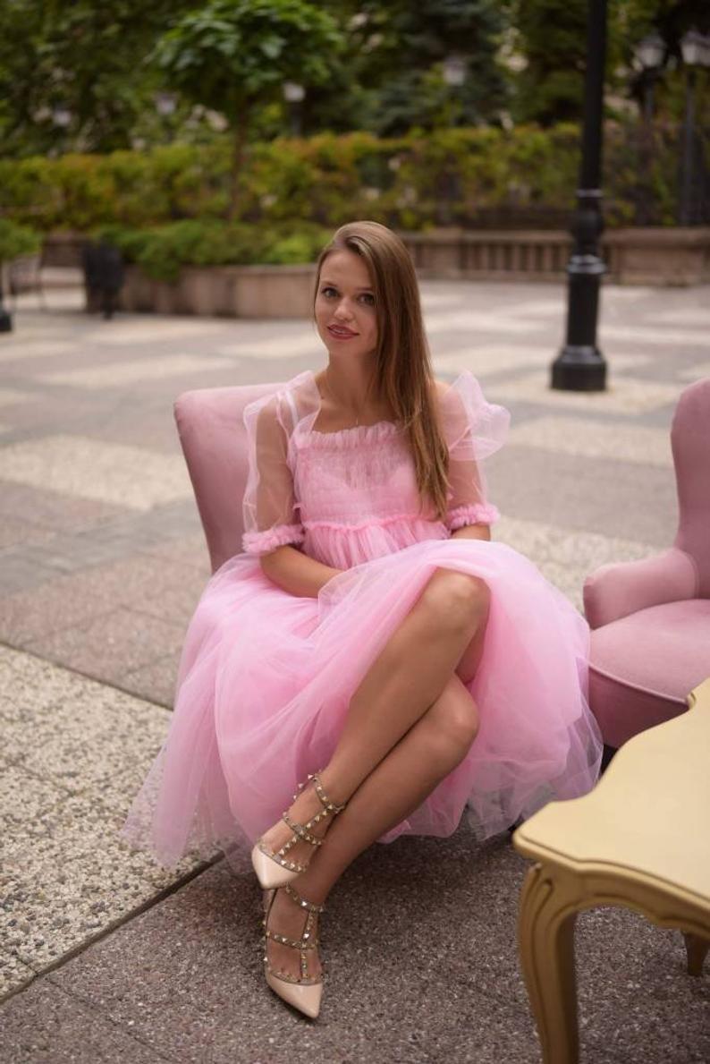 Ready To Ship Tulle Dress Pink Dress 50 Sale Dress All Etsy Pink Tulle Dress Tulle Dress Pink Dress [ 1189 x 794 Pixel ]