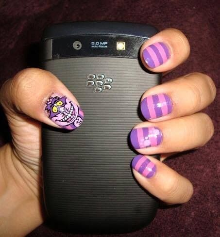 Cheshire Cat nails