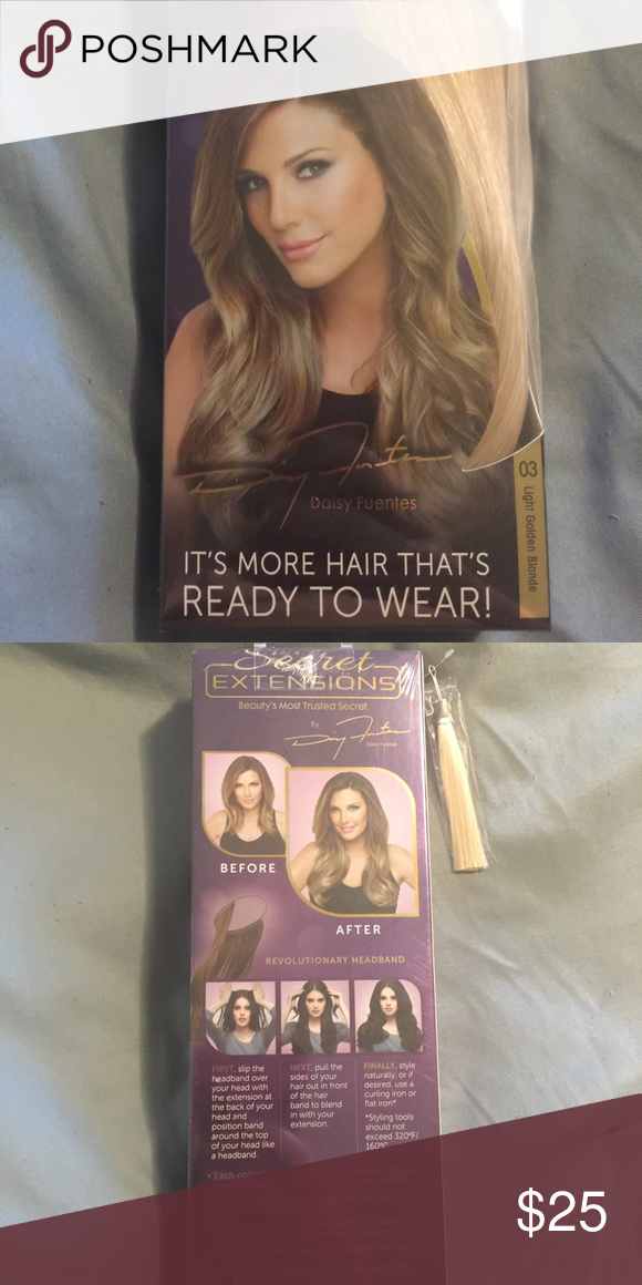 Secret Extensions Light Golden Blonde Nwt My Posh Closet